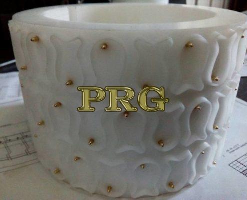 Izgotovlenie polimernyih kolets nabornogo rotora dlya proizvodstva krekernogo pechenya Ryibka 3
