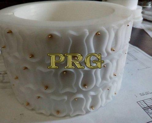 Izgotovlenie polimernyih kolets nabornogo rotora dlya proizvodstva krekernogo pechenya Ryibka 2